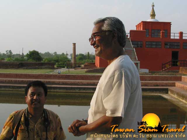 Mr. Basanta Bidari. Archaeologist. Chief Archaeologist Govt. of Napal Ministry of Culture, Lumbini Development Trust, Sacred Garden, Lumbini, Napal.